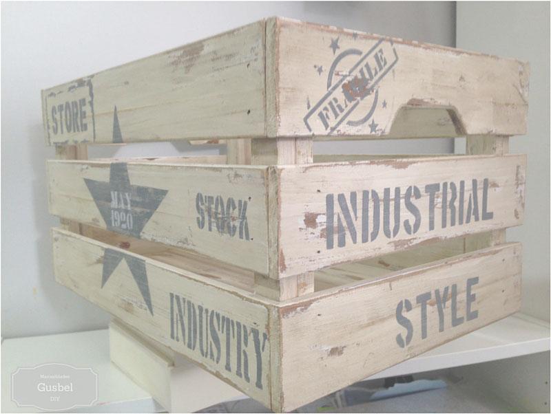 Decorar caja de madera estilo industrial gusbel manualidades y pinturas - Cajas de madera para decorar ...