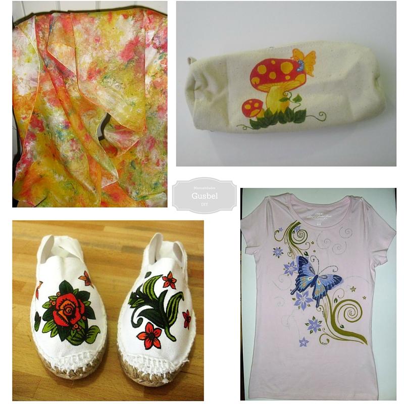 Pintura en tela gusbel manualidades y pinturas - Pintura acrilica manualidades ...