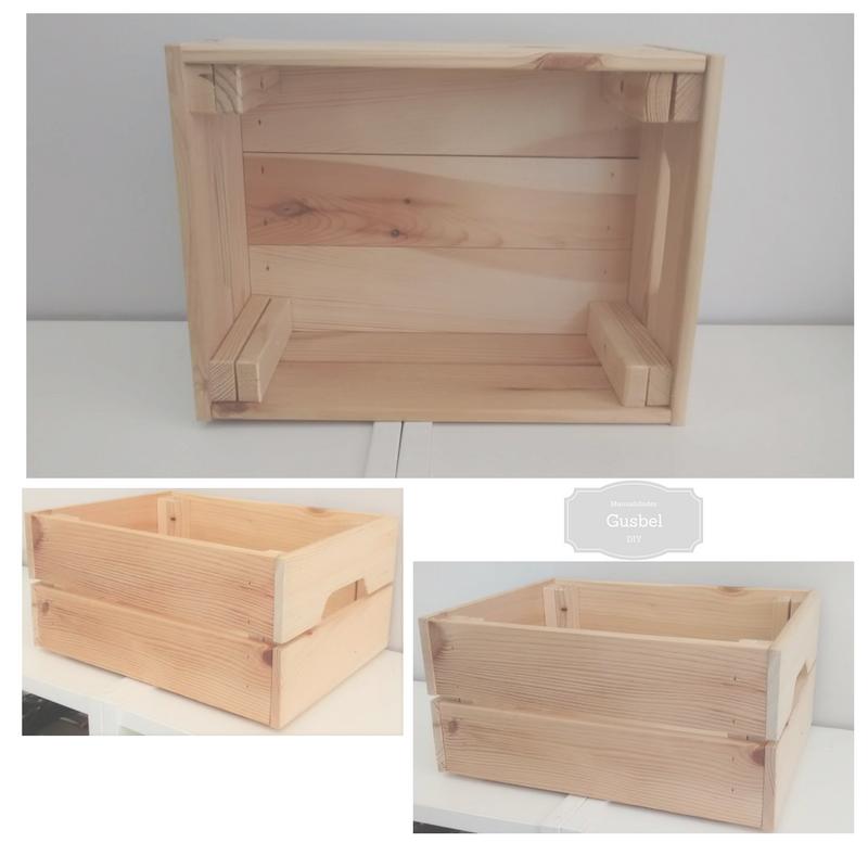 Caja de regalo con plantilla de estarcir gusbel - Caja madera manualidades ...
