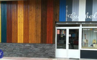 La fachada de la tienda